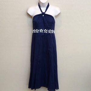 NWT Ann Taylor Loft Blue Dress Size 10